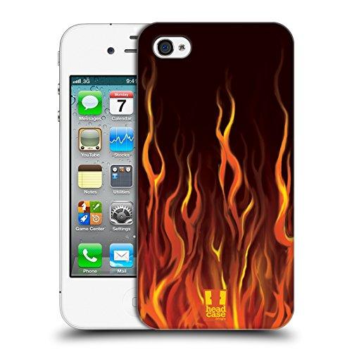Head Case Designs Flamme Bleue Flammes De Bolide Étui Coque D'Arrière Rigide Pour Apple iPhone 3G / 3GS Enfer