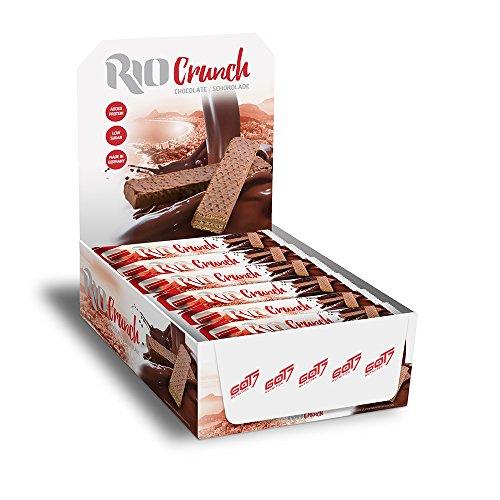 Got7 Rio Crunch Protein Waffel Mit Schokolade Riegel Eiweißriegel Whey Diät Fitness Bodybuilding 24x 20g (Chocolate - Schokolade)