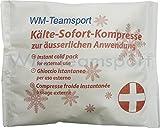 10er PACK Sofort-Kälte-Kompressen / Instant- Coolpack Selbstaktivierend auf Druck mit Fixiertape / Bei Prellungen Insektensticken u.v.m.