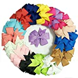 3 inch Grosgrain Ribbon Hair Bows WITH C...