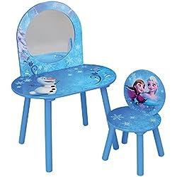 FUN HOUSE Disney Reine des NEIGES Coiffeuse avec Chaise pour Enfant MDF, 60 x 40 x 84 cm