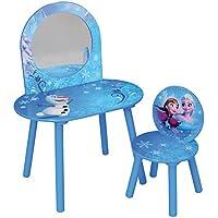 Preisvergleich für Fun House Disney Eiskönigin Frisiertisch mit Stuhl für Kinder, MDF, 60x 40x 84cm