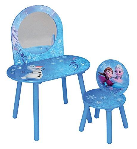 Unbekannt Fun House Disney Eiskönigin Frisiertisch mit Stuhl für Kinder, MDF, 60x 40x 84cm