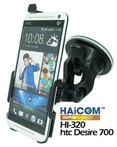 Haicom KFZ-Halterung mit 360° Rotation und Saugfuß für HTC Desire 700 vibrationsfreies 1-Klick Befestigungssystem PDA-Punkt