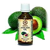 Avocado Öl, kaltgepresst und raffiniert, 100% naturreines und reines 50ml, Avocadoöl, Glasflasche,...
