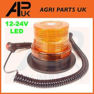 APUK LED Magnetic Mounting Flashing Beacon Warning Light Car Van Truck 4x4 Tractor 12