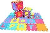 Jessie& Letty 90 * 90 cm Tapis de jeu en Mousse Dessin Animaux Soft Foam fruit vehicles Zoo Animal Jigsaw Puzzle Mat Playmat children's rugs playmat playmat Puzzle Alphabet & Numbers (Number)