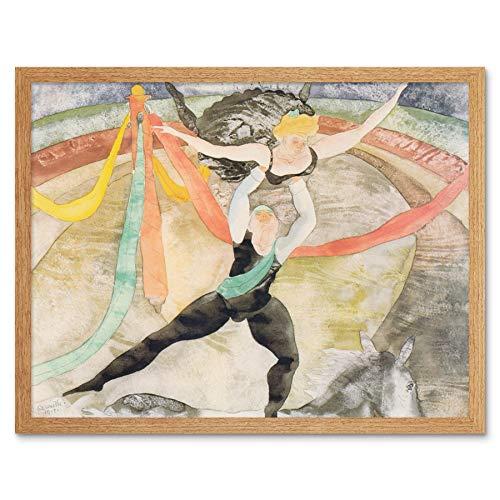 Demuth Circus Acrobats Painting Art Print Framed Poster Wall Decor 12x16 inch Zirkus Malerei Wand Deko -