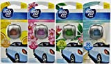 4x Febreze AMBI PUR Car Autoduft Lufterfrischer Verschiedene Sorten [Ocean and Wind ,Reinforest Breeze, Flowers and Spring, Citrus Fusion]