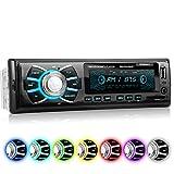 XOMAX XM-RSU262BT Autoradio ohne CD-Player + Bluetooth-Freisprecheinrichtung & Musikwiedergabe + 7 Farben einstellbar (Rot, Blau, Grün uvm.) + USB-Anschluss (bis 128 GB) & SD-Kartenslot (bis 128 GB) für MP3 und WMA + AUX-IN + Single-DIN / 1-DIN Standard Einbaugröße + inkl. Fernbedienung & Einbaurahmen