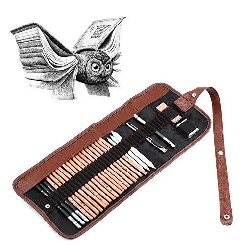 yossor-kit-per-schizzo-e-disegno-set-matita-gomma-penne-marco-strumento-artistico-29-pezzi-fornire-a