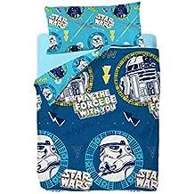 Disney Star Wars Doodle Saco Nórdico de 2 Piezas para Cama de 90 Cotton