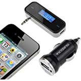 VicTsing Wireless 3.5mm In-Car LCD Display FM Transmitter + Car Charger Radio Adapter For Apple iPhone 6 Plus iPhone 6 5S 5C 5 4S 4 iPod Touch Samsung Galaxy Note 2 II 3 III S5 S4 SIV S3 SIII MP3
