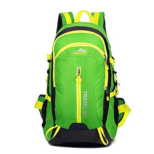 Outdoor-Bergsteigen-Tasche doppelter Schulterbeutel wasserdichter Freizeit-Reise-Wanderrucksack Green