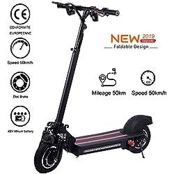 Wetour 1200W Scooter électrique 48V / 22Ah - Vitesse maximale 50 km/h, kilométrage 50 km - Noir