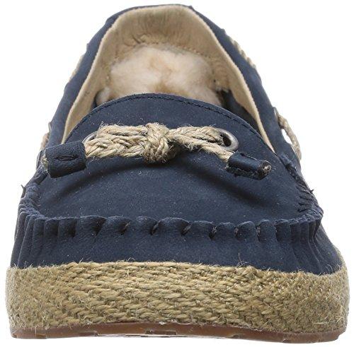 Ugg Australia Chivon Cuir Chaussure Plate Navy