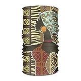 African Woman Art Pattern Headwrap Unisex Multifunction Headwear Polyester Quick Dry Soft Headband Neck Scarf,Premium Headdress Outdoors Magic Head Scarf Bandana Mask Neck Gaiter for Men Women Unisex3