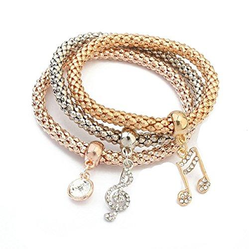 Bishiling Schmuck Legierung Armband Damen Musik Symbol Bunte Armbänder für Frauen (Kostüm Camo Schmuck)