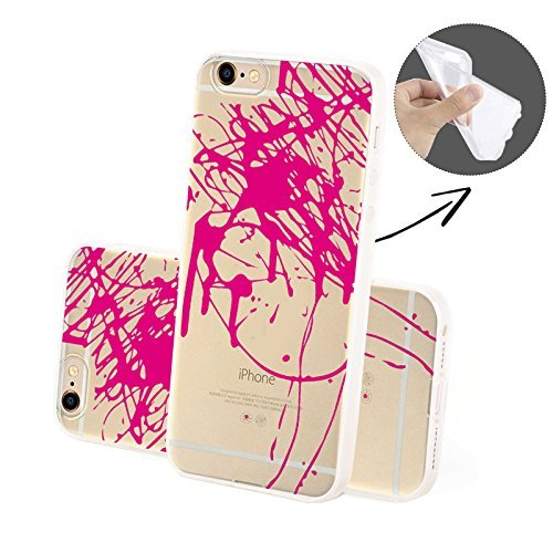 FINOO Coque pour téléphone portable Transparent Silicone Motifs 4 - Barbie SILIKON, Iphone 6/6S Splash SILICONE
