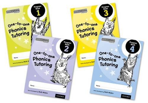 Read Write Inc. Phonics: One-to-one Phonics Tutoring Progress Book Mixed Pack of 4