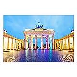 Glasbild Berlin - Erleuchtetes Brandenburger Tor - Quer 2:3, Größe HxB: 60cm x 90cm