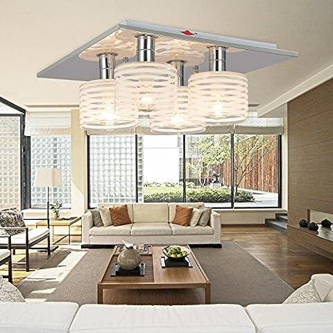 Lámpara de techo moderna simple y elegante de 4 piezas, Lámpara de techo de moda para dormitorio, Lámpara de techo de vidrio moderna para sala de