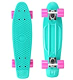 Bikestar SK-60-RT-01-PLBY Caribbean and Glam Berry-Skateboard, türkis