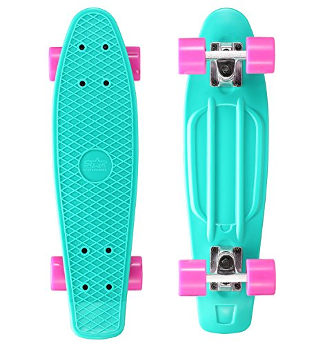 STAR-SKATEBOARDS Vintage Cruiser Board  Edizione 22ª Diamante Categoria  Cremoso Menta & Caramella Lilla
