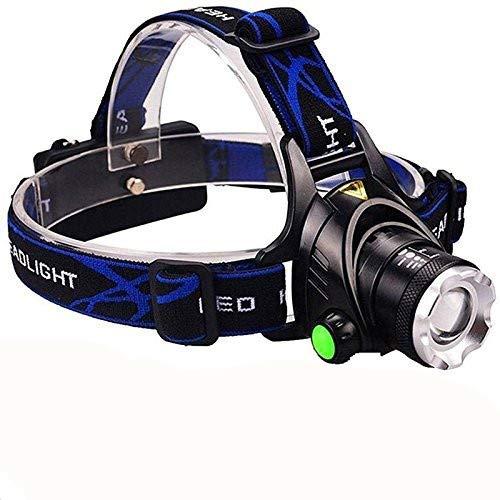 Huntvp LED Stirnlampe XML-T6 2000LM Kopflampe Wiederaufladbar Scheinwerfer Wasserdicht Headlight mit EU-Stecker USB Kabel Verstellbare Superhell Kopfleuchte für Camping Wandern Laufen Radfahren