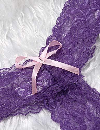 Kulzer Damen Taillenslip, Einfarbig Gr. Medium, Violet-18 - 5