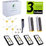 I-clean Replacement Accessories Kit For IRobot Roomba 880 870 900, Including 4Hepa Filter, 4Side Brush, 2Tangle-Free Debris Extractor By I Clean
