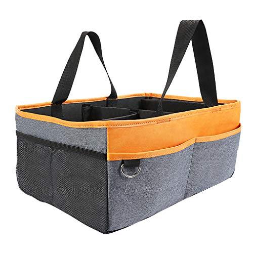 (F Fityle Baby Windel Lagerung Organizer | Baby Dusche Geschenk Korb für Junge Mädchen - Orange)