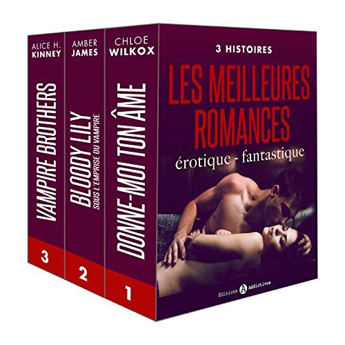 Couverture du livre Les meilleures romances érotique - fantastique