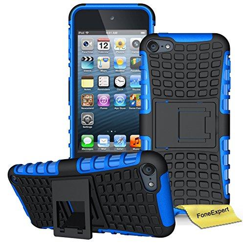 iPod Touch 5 Handy Tasche, FoneExpert® Hülle Abdeckung Cover schutzhülle Tough Strong Rugged Shock Proof Heavy Duty Case für Apple iPod Touch 5th Generation + Displayschutzfolie (Blau)