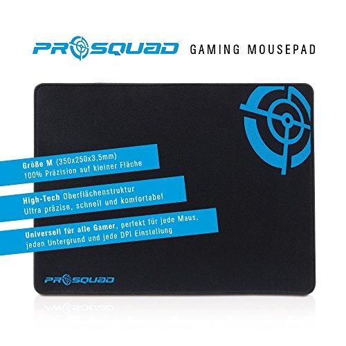 ProSquad Gaming Mauspad – Professional Speed-Pad – rutschfest und präzise – 25x35cm – schwarz - 2