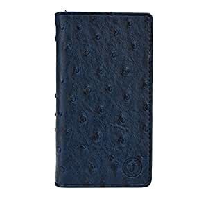 Jo Jo Cover Croc Series Leather Pouch Flip Case For LG bello Dark Blue