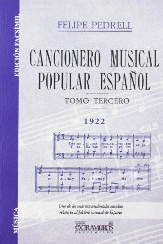 Cancionero musical popular español. Tomo III (Música)
