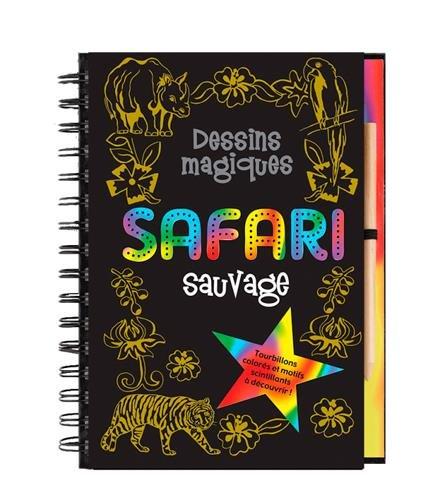 Safari sauvage : Tourbillons colorés et motifs scintillants à découvrir !