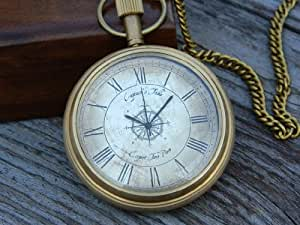 Marco Polo Pocket watch with Anchor Inlaid wooden box