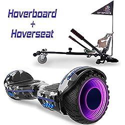 """COLORWAY Hoverboard 6,5"""" 700W con Ruedas de Flash LED, Altavoz Bluetooth y LED, Autoequilibrio de Scooter Eléctrico"""