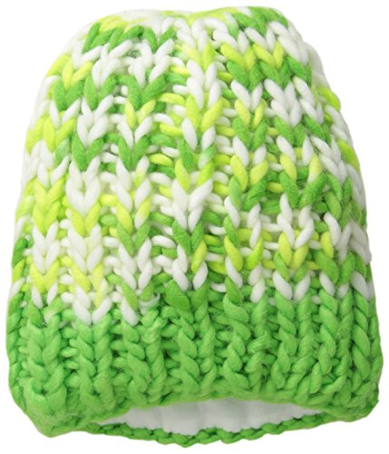 Spyder Women's Mosaic Hat, Green Flash/Bryte Yellow/White, One Size