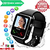 Montre Connectée Etanche,Smart Watches for Men,Smart Watch Con Caméra Whatsapp, Bluetooth Smartwatch Compatible Andriod Samsung Huawei Sony iOS Phone X XS XR 8 7 6 6S 5 5S Se pour Femmes Homme