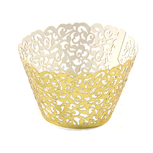 Miss Bakery's House® Cupcake Wrapper - Filigrane - Gold - 25 Stück