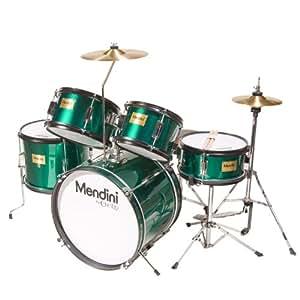 Mendini MJDS-5-GN Kinderschlagzeug Komplett Set 40,6 cm (16 Zoll) metallisch grün