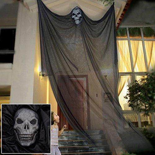 Halloween hängende Geister Dekoration Türvorhang Horror Requisiten Party (Schwarz)