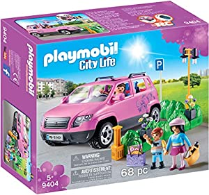 PLAYMOBIL City Life Coche Familiar con Parking, A partir de 5 años (9404)