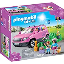 PLAYMOBIL City Life 9404 Family Car with Parking Space, For children ages 5+