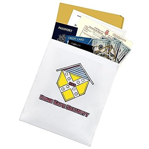 Home Safe de sécurité résistant au feu Document Sac de rangement Enveloppe Argent Passeport