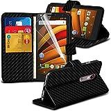 Motorola Moto X Force hülle Tasche (Black Carbon Fiber