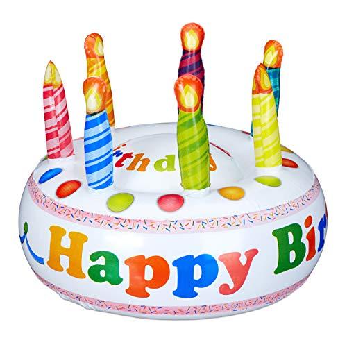 La tarta hinchable es ideal para todos los que no pueden hornear y no quieren aparecer sin pasteles en la fiesta de cumpleaños. Como regalo divertido para el 30 de cumpleaños o como idea de regalo equipado con billetes, con esta tarta nunca se equivo...